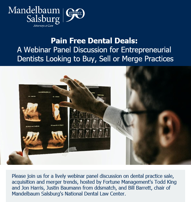 Pain Free Dental Deals: Webinar on mergers and purchases
